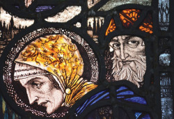 Plate 2. Harry Clarke, The Visitation (1924), detail of Zacharias, Saints Peter and Paul Church, Balbriggan, Co. Dublin (photograph by Kelly Sullivan)