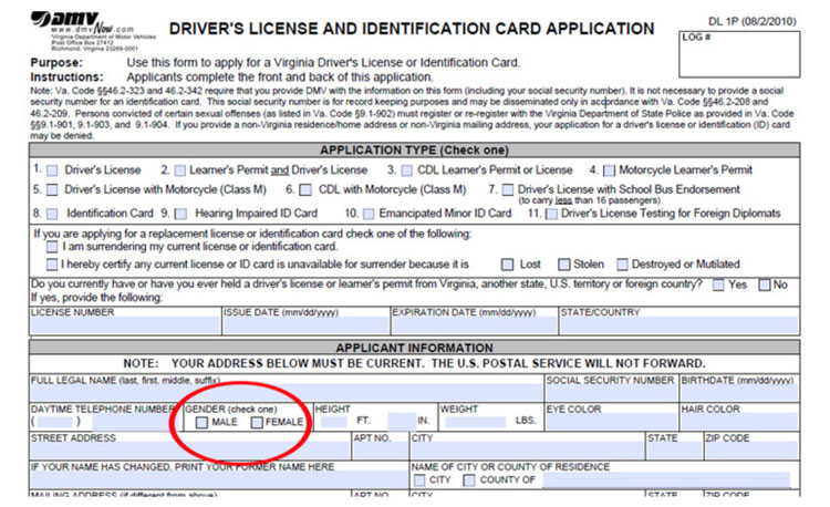 Virginia Driver's License Application7