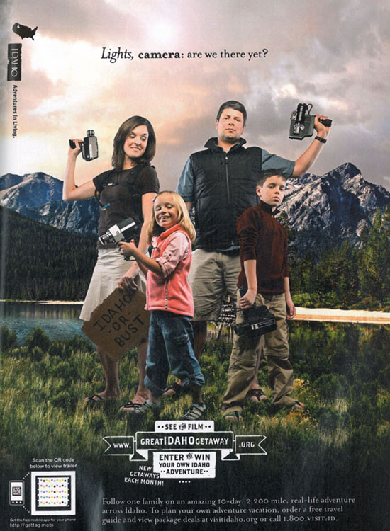 A heteronormative family of four for Idaho tourism25