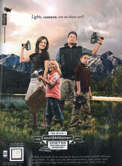 Fig. 19. A heteronormative family of four for Idaho tourism