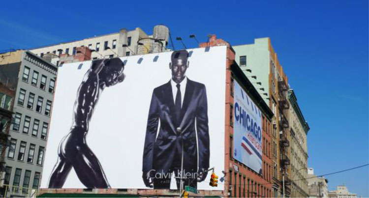 African-American Supermodel David Agdobji Appears Naked and Clothed in a Calvin Klein Billboard38