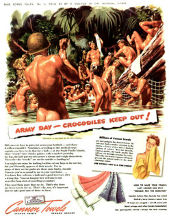 Fig. 33. This Vintage Ad of Naked Soldiers Can Be Read with a Gay Subtext