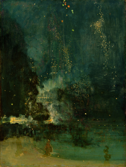 Fig. 1. James Abbott McNeill Whistler, 1834–1903, Nocturne in Black and Gold, the Falling Rocket, c.1875 (oil on panel), 23 3/4 × 18 3/8 in. Detroit Institute of Arts, USA, Gift of Dexter M. Ferry Jr., The Bridgeman Art Library. (Online version in color)
