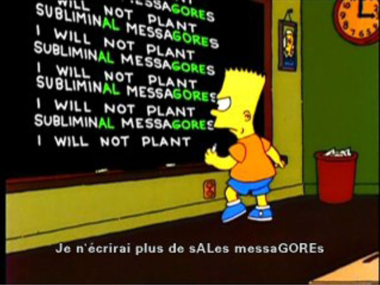 Bart Simpson Embeds a Message Supporting Al Gore39