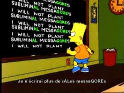 Fig. 17. Bart Simpson Embeds a Message Supporting Al Gore