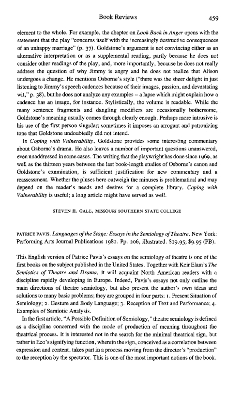 aesthetics essay in stage In housen's essay eye of the beholder: research, theory and practice, she  a  temporary aesthetic stage is assigned in this process, and this scoring is then.