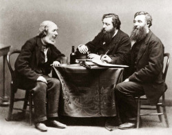 Image 1. Lachlan MacNeill, John Francis Campbell, and Hector MacLean, Islay, 1870 (School of Scottish Studies Archives).