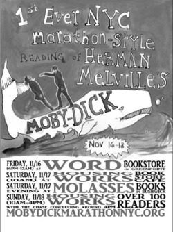 Fig. 1. Poster for New York City's First-Ever Moby-Dick Marathon, November 16-18, 2012.