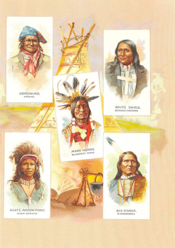 "Fig. 4. An Album Page Containing ""American Indian Chiefs"" from Allen & Ginter"