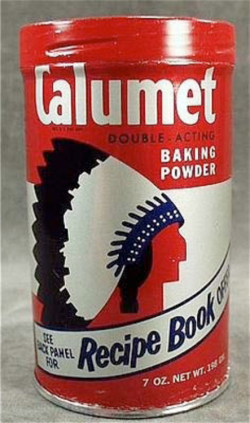 Fig. 10. Calumet Baking Powder Uses Native American Imagery