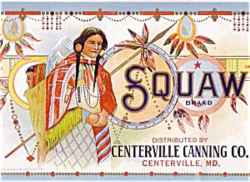 Fig. 13. Squaw Brand Canned Vegetables (c. 1920s)