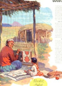 Fig. 17. This Child Is Learning Weaving from an Older Woman