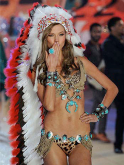 Fig. 23. This Victoria's Secret Model Sparked Protests from Native American Groups