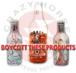 Fig. 24. The Crazy Horse Defense Project Recommended Product Boycotts in Support of Native American Rights to Names and Images