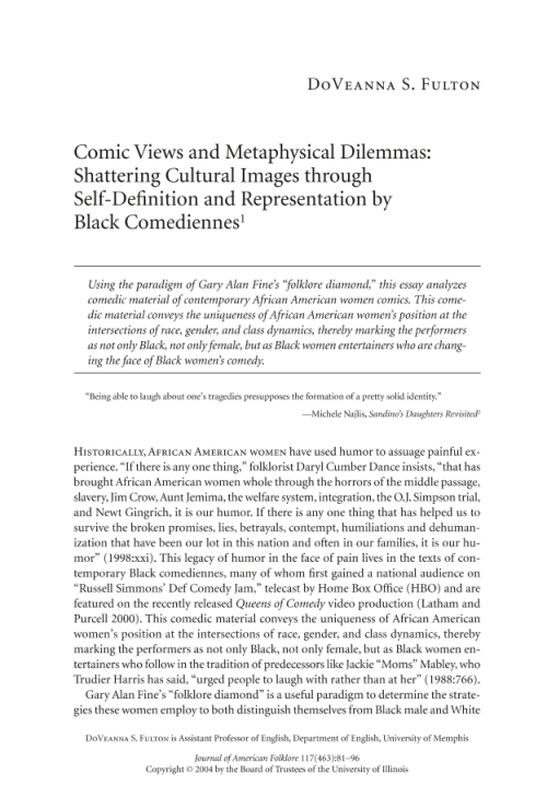 african american folklore essay The culture of africa is varied and manifold, consisting of a mixture of countries with various tribes that each have their own unique characteristics from the continent of africait is a product of the diverse populations that today inhabit the continent of africa and the african diasporaafrican culture is expressed in its arts and crafts, folklore.