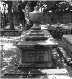 Fig. 2. Gravesite of Joseph H. Adams, Protestant cemetery, Macao. Photograph by Kendall Johnson.
