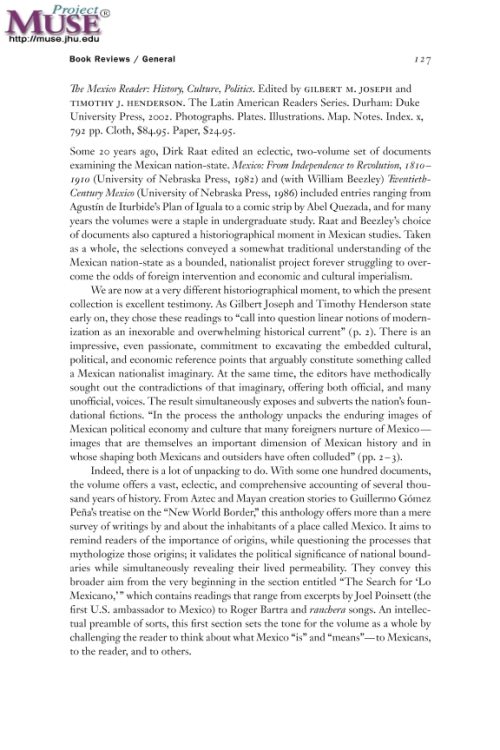 a critique of james creelmans interview with porfirio diaz Catalogs kants major works in the age of reason and enlightenment and more online easily share your publications and get frederick.