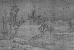 Fig. 1. Luo Zhichuan, Snowy River. Hanging scroll; ink and colours on silk, 52 × 77 cm. Tokyo National Museum.