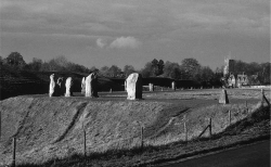 Fig. 1. The Neolithic henge monument at Avebury, with a modern village and a medieval church (photo by the author).
