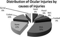 Figure 1. Distribution of ocular injuries by causes of injury