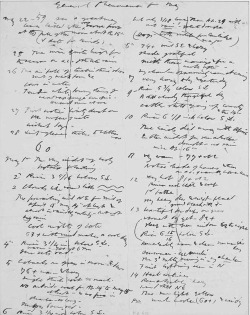 "Figure 2. General Phenomena for May (list), ""Nature notes, charts and tables: autograph manuscript,"" MA 610. The Pierpont Morgan Library, New York."