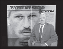 "Figure 3. Gaétan Dugas becomes the face of AIDS as ""Patient Zero"" on the CBS television program 60 Minutes, November 15, 1987, presented by Harry Reasoner. Image reproduced with permission from BBC Worldwide Americas Inc."