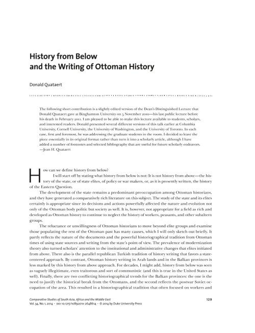 ottoman history essay A new volume of essays looks afresh at women's lives during the 600 years of the  ottoman empire the book challenges the stereotypes of.