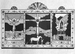 Fig. 1. The cover image for New Mexico Triptych by Fray Angélico Chávez. Courtesy of Sunstone Press, Box 2321, Santa Fe 87504–2321, .