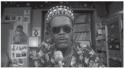 Figure 1. Mister Señor Love Daddy (Samuel L. Jackson) in Do the Right Thing (40 Acres and a Mule Film-works, 1989).
