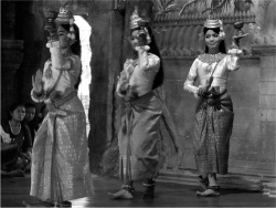 "Figure 2. Nita and others perform ""Blessing Dance"" at a private performance organized for a large tour group.<br/><br/>(Photo: Celia Tuchman-Rosta)"