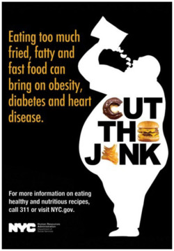 "Figure 1. NYC HRA ""Cut the Junk"" campaign poster. Retrieved from: ."