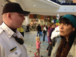 Fig. 2. Reyna Crow faces arrest at Mall of America, December 31, 2013. Courtesy of the author.