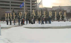 Fig. 3. Outside the moa with Idle No More, December 31, 2013. Courtesy of Native News Online.