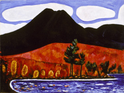 Fig 1. Marsden Hartley, Mt. Katahdin, Maine, Number 2. 1939-40. Oil on canvas, 30 1/4 x 40 1/4 in. (76.8 x 102.2 cm). Edith and Milton Lowenthal Collection, Bequest of Edith Abrahamson Lowenthal, 1991 (1992.24.3). The Metropolitan Museum of Art, New York, NY, U.S.A. Im age copyright © The Metropolitan Museum of Art.<br/><br/>Image source: Art Resource, NY.