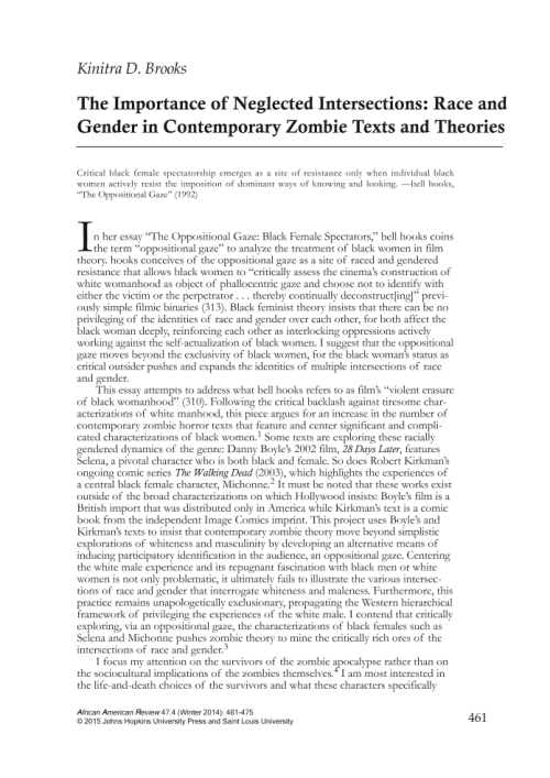 a critical view on modern horror movies In almost all critical writings on the horror film, woman is conceptualised only as victim in the monstrous-feminine barbara creed challenges this patriarchal view.