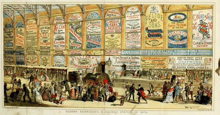 Public Transportation as a Site for Advertising, London, 187411