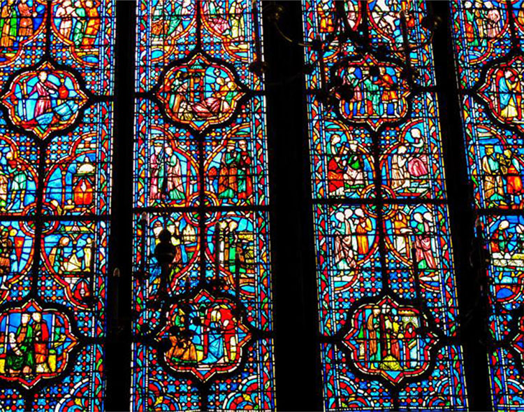 Fig. 13. Details of a Stained Glass Window in the Sainte-Chapelle, Paris