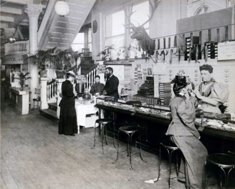 The Glove Counter of Rike's Department Store, Dayton, Ohio, 189323