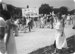 Fig 1. Eileen Boris (right foreground) at the March for Ratification of the ERA, Washington, DC, July 9, 1978.