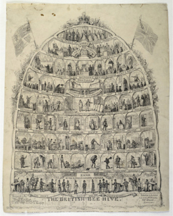 Fig. 1. The British Bee Hive, etching by George Cruikshank, 1867.