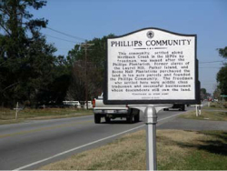 Figure 6. Philips Community, US Highway 41, historic marker.<br/><br/>Courtesy Spoleto Festival USA, Charleston, South Carolina.