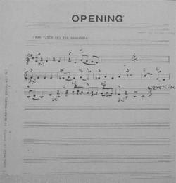 Fig. 1. Brian Fahey. 'Opening' from Jack and the Beanstalk (Glebe Music, ©1972)