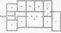 Fig 2. Plan of galleries of 1874 museum. From .