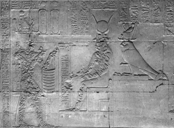 Figure 25. Dendera pl.112, First East Chamber, Register 3. The small puncture marks (left) contrast with the long lacerations (right) on the same scene (Photo: © IFAO).