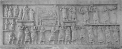 Figure 5. Late republican or early imperial marble relief depicting a funerary procession. Amiternum, c. 50 Now in the Museo Nazionale d'Abruzzo, L'Aquila.