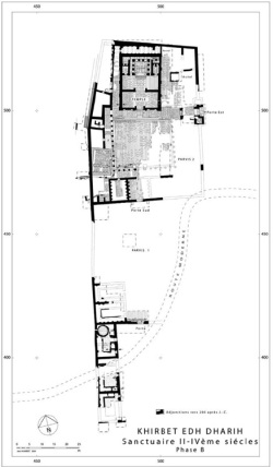 Figure 12. Plan of Khirbet edh-Dharih (Document by courtesy Jordanian and French Project at Dharih).