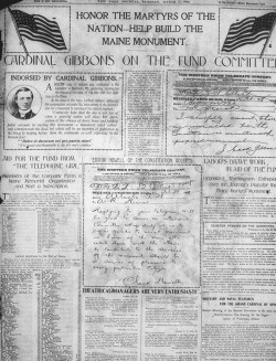 Figure 1. Telegrams embedded in the New York Journal, March 1, 1898.