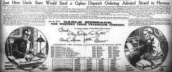 "Figure 5. ""Just How Uncle Sam Would Send a Cipher Dispatch Ordering Admiral Sicard to Havana,"" New York Journal, February 20, 1898."