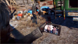 Figure 1. Far Cry 4: Selfie with Ajay Ghale and Pagan Min. Screenshot by author.