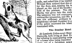 Figure 9. Detail of a hybrid service image from JISC I showing greyscale illustrations and bitonal text, Illustrated Police News, January 28, 1893, 19th-Century British Library Newspapers.